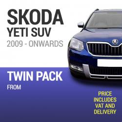 Wiper Blades to Fit a Skoda Yeti 2009 Onwards Models - Front Screen Twin Pack From only £17.57 Including Delivery