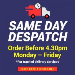Despatched by 4.30pm