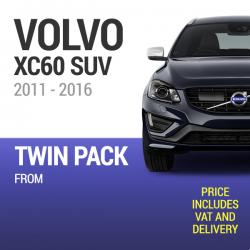 Wiper Blades to Fit a Volvo XC60 2011 - 2016 Year Models - Front Screen Twin Pack From only £19.01 Including Delivery