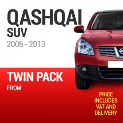 Wiper Blades to Fit a Nissan Qashqai 2006 - 2013 Year Models - Front Screen Twin Pack From only £17.61 Including Delivery
