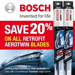 Spring Sale - Save 20% on all Bosch Retrofit Aerotwin Wiper Blades