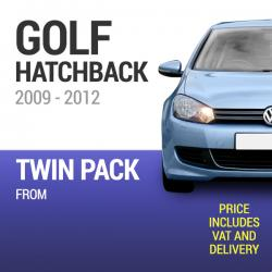 Wiper Blades to Fit a VW Golf Hatchback 2009 - 2012 Models - Front Screen Twin Pack From only £17.57 Including Delivery