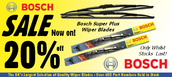 Save 20% on Bosch Super Plus Standard and Spoiler Wiper Blades