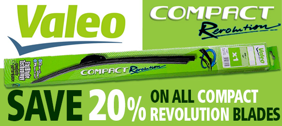 Sale - 20% off Valeo Compact Revolution Retrofit Wipers - Auto Express Recommended Product