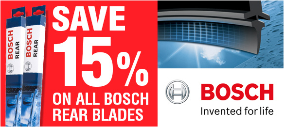 Bosch Rear Screen Wiper Blades - Save 15%