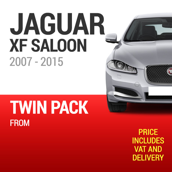 Wiper Blades to Fit a Jaguar XF Saloon 2007 - 2015 Models - Front Screen Twin Pack From only £18.47 Including Delivery