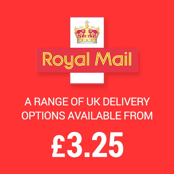 A range of UK and International Delivery Options from only £3.25 per Order