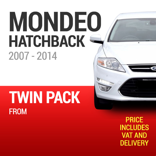 Wiper Blades to Fit a Ford Mondeo Hatchback 2007 - 2014 Models - Front Screen Twin Pack From only £19.38 Including Delivery
