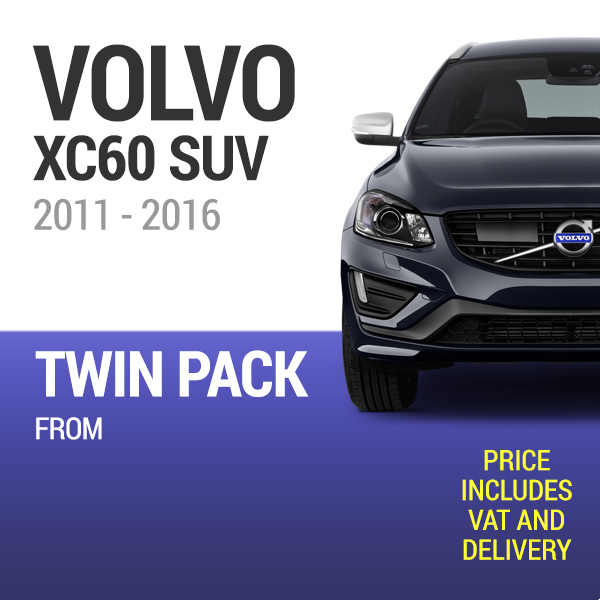 Wiper Blades to Fit a Volvo XC60 2011 - 2016 Year Models - Front Screen Twin Pack From only £20.64 Including Delivery