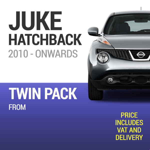 Wiper Blades to Fit a Nissan Juke 2010 Onwards - Front Screen Twin Pack From only £11.70 Including Delivery