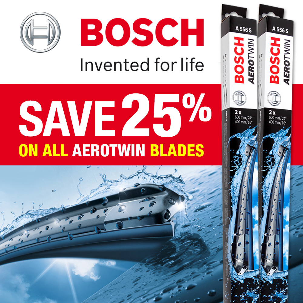 Bosch Aerotwin Wiper Blades Now on Sale - Save 20%